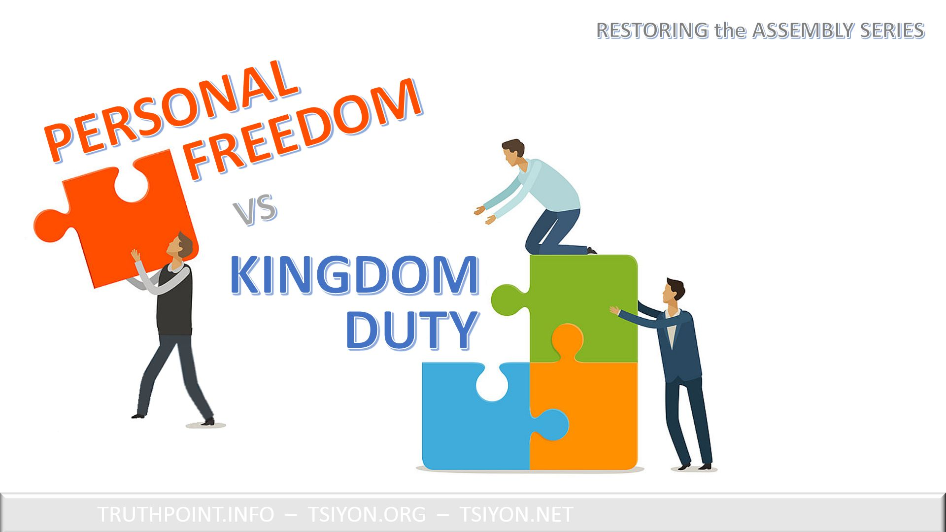 wanna be free personal freedom vs kingdom duty
